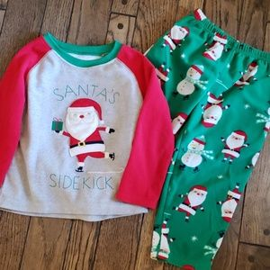 Fleece Santa pajamas set